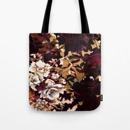 Tropical Blaze Floral Print Tote Bag