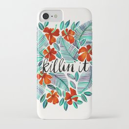 Killin' It – Tropical Red & Green iPhone Case