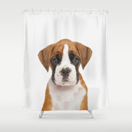 German Boxer Puppy Shower Curtain