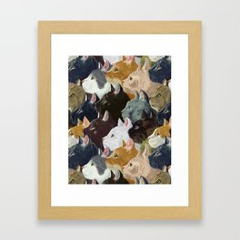 Never ending cats Framed Art Print
