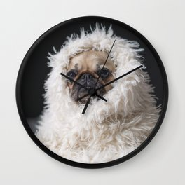 PUG VIBES Wall Clock