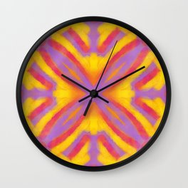 Vintage Tile Pattern 4 Wall Clock