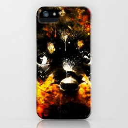 rottweiler puppy dog ws std iPhone Case