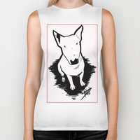 bull terrier Biker Tanks featuring bull terrier by sabrina.gennari