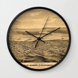 San DIego 1876 Wall Clock