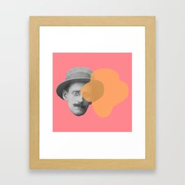 James Joyce - portrait pink and yellow Framed Art Print