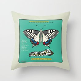 Machaon (Papilio Macaon) Throw Pillow