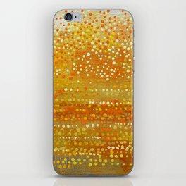 Landscape Dots - Orange iPhone Skin