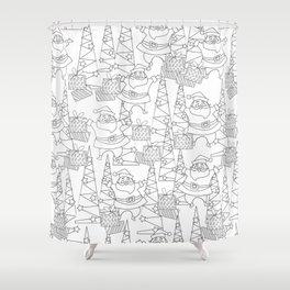 Jingle Jangle - Coloring Book Shower Curtain
