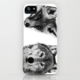 Vulpes vulpes, canis lupus iPhone Case