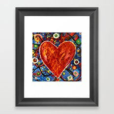 Abstract Painted Heart Framed Art Print