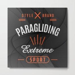 Paragliding Extreme Sport Metal Print
