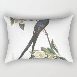 Forked tailed flycatcher, Birds of America, Audubon Plate 168 Rectangular Pillow