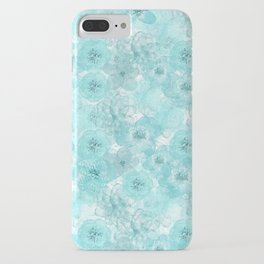 Turquoise aqua flower lace pattern iPhone Case
