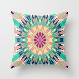 Cool Pink Retro Geometry #2 Throw Pillow