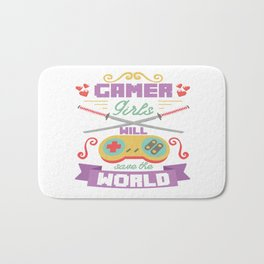 Funny Gamer Gaming Geek Nerdy Accessories Gift Bath Mat