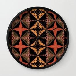 Warm Quilt Pattern Wall Clock