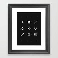 Tribute to Daft Punk, B&W. Framed Art Print