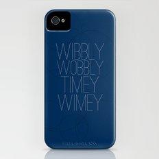 Wibbly Wobbly Timey Wimey iPhone (4, 4s) Slim Case