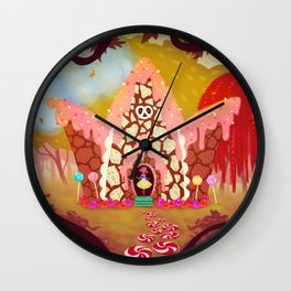 Hansel & Gretel: Candy Cottage Wall Clock