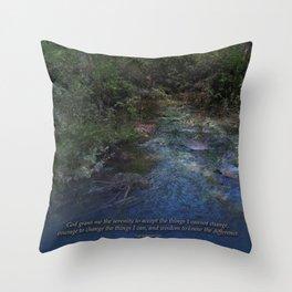 Serenity Prayer Blue Creek Throw Pillow