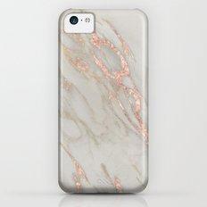 Marble - Rose Gold Marble Metallic Blush Pink iPhone 5c Slim Case