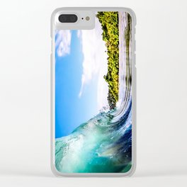 Tropical Wave Clear iPhone Case