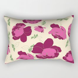 English Roses in Pink and Cream Rectangular Pillow