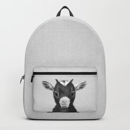 Baby Goat - Black & White Backpack