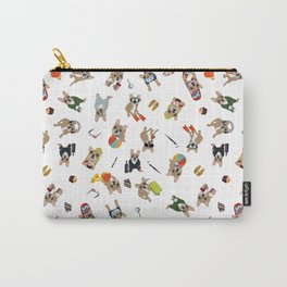 Frenchie's luxury life pattern Carry-All Pouch