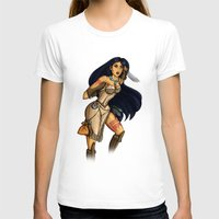 pocahontas T-shirts featuring Steampunk Pocahontas by Hungry Designs