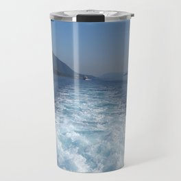 Rest on The Ionian Sea. Greek Islands. Travel Mug