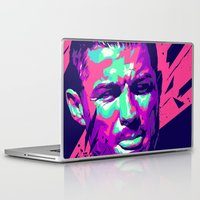 ronaldo Laptop & iPad Skins featuring Christiano Ronaldo : FOOTBALL ILLUSTRATIONS by mergedvisible