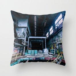 Abandoned Asylum I Throw Pillow