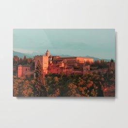 alhambra sunset Metal Print