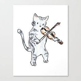 String Meowtet: Arvo Canvas Print