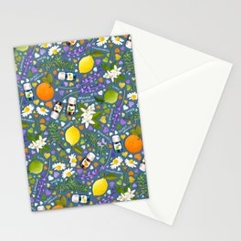 Essential Oils Love on Blue Stationery Cards