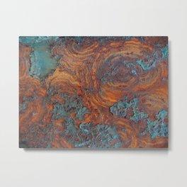 Moroccan Swirls Pattern Metal Print
