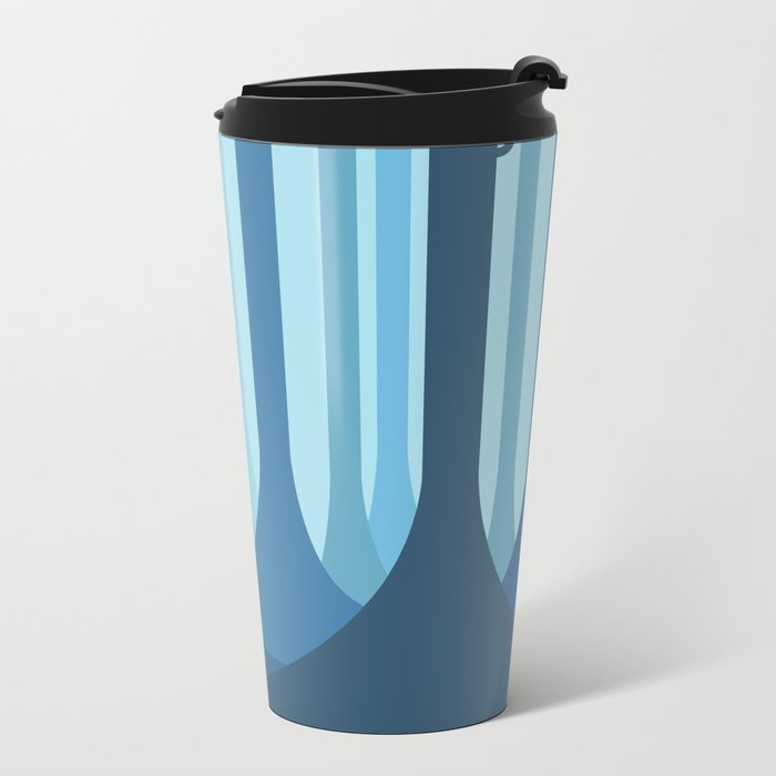 Blue forest Travel Mug