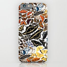 Butterflies of North America Pattern iPhone Case