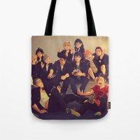 viria Tote Bags featuring Karasuno by viria
