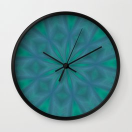Aurora In Jade and Blue Wall Clock