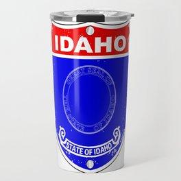 Idaho Flag Icons As A  Interstate Sign Travel Mug