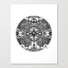 deer mandala Canvas Print
