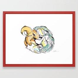 astro animals Framed Art Print