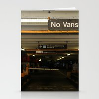 vans Stationery Cards featuring No Vans by Stephane Rangaya