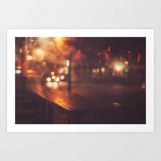 City night Art Print