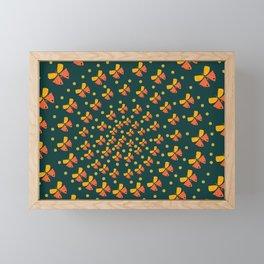 Butterflies in spiral Framed Mini Art Print