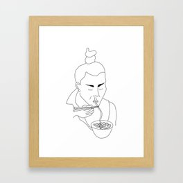 Asian Food Framed Art Print