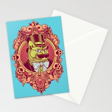 Hipster Mustache Cat Stationery Cards